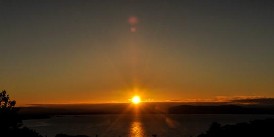 Time lapse : lever du soleil